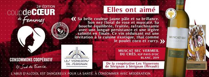 Coup de coeur de femmes - les Vignerons de Sérignan